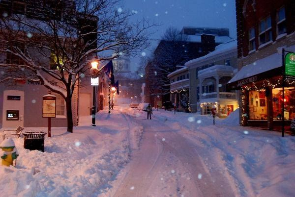 Walking towards the Capital on a snow covered street in Annapolis Posted by Steve Heise Z