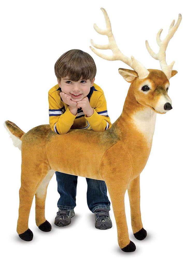 Melissa And Doug Reindeer Deer Plush Stuffed Animal Gift Children Toddler Toy My Sons Room