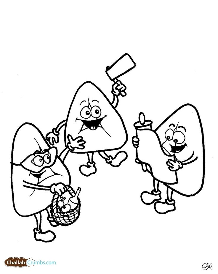 Silly hamantaschen celebrate Purim! Ask your children to