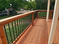 25+ best ideas about Deck railing design on Pinterest