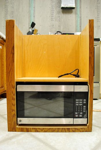 kitchen cabinet refacing ideas griddle how to hide a microwave (building it into vented ...