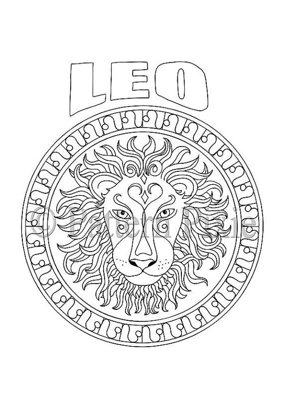 116 best images about Zodiac Signs Coloring Pages on
