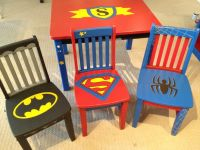 decorate superhero table & chairs - So cool! | Batman ...