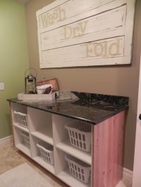 Need folding table for laundry room, not this exact look ...