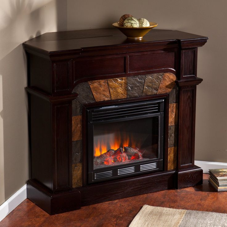 Corner fireplace tv stand Fireplace tv stand and Corner fireplaces on Pinterest
