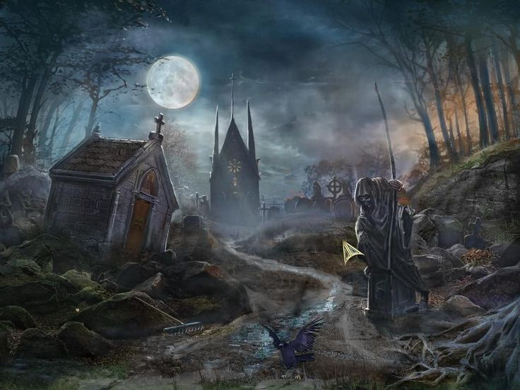 Fall Masquerade Fantasy Art Wallpapers Graveyards Wallpapers And Search On Pinterest