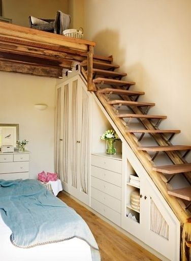 Fab use of space under these stairs that lead up to loft. Not an inch is wasted. Does anyone know where th
