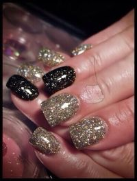 1000+ ideas about Gold Acrylic Nails on Pinterest ...