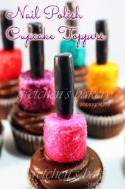 marshmallow nail polish cupcake
