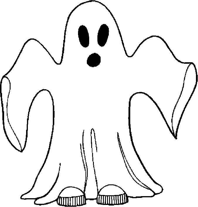 Dibujos de fantasmas para colorear en halloween