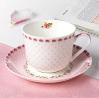 Cute Floral Pink Tea Cup & Saucer Set