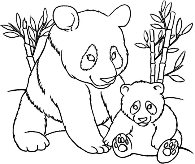 18 best Mom and Baby Animal Coloring Pages images on Pinterest
