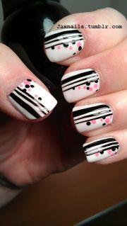 white base with black stripes
