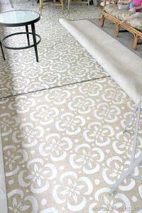 how I stenciled our concrete patio with a stencil I made ...