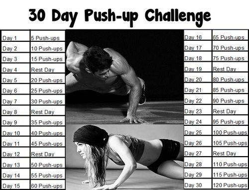 25 Best Ideas About 30 Day Pushup Challenge On Pinterest Push