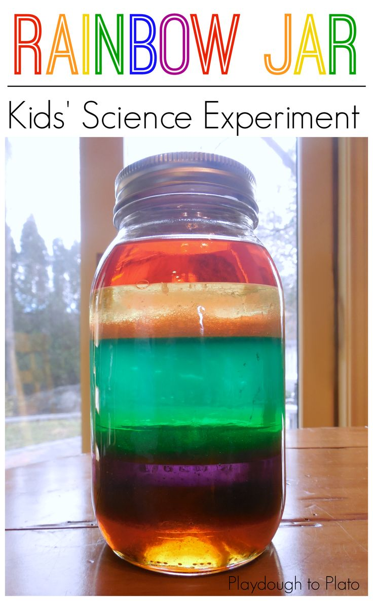 Science for kids, kids science, rainbow jar, make a rainbow in a