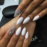 ideas white nails