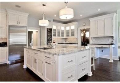 Antique White Kitchen Dark Floors