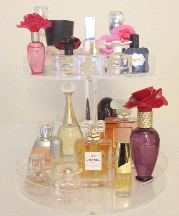 Bella Petite 2 Tier Perfume Storage Holder, Acrylic Makeup