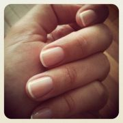 nice simple french natural nails