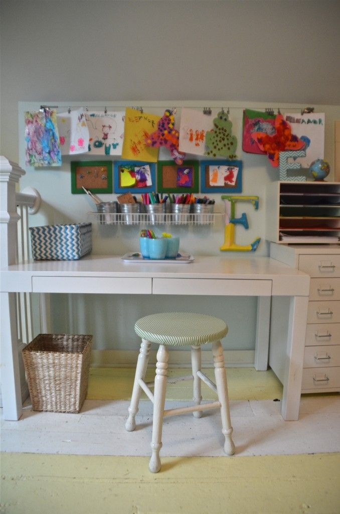 Kids Art Desk With Storage  WoodWorking Projects  Plans
