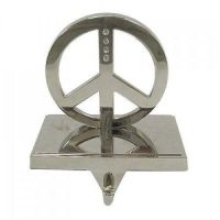 Peace Sign Silver Stocking Holder - Set of 2 St. Nicholas ...