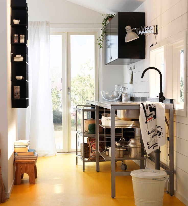 ikea metal kitchen shelves stainless steel sink commercial Österreich, inspiration, küche, spülentisch udden ...