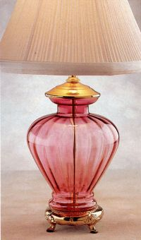 Victorian Cranberry Glass Lamp