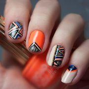 1000 ideas orange nail art
