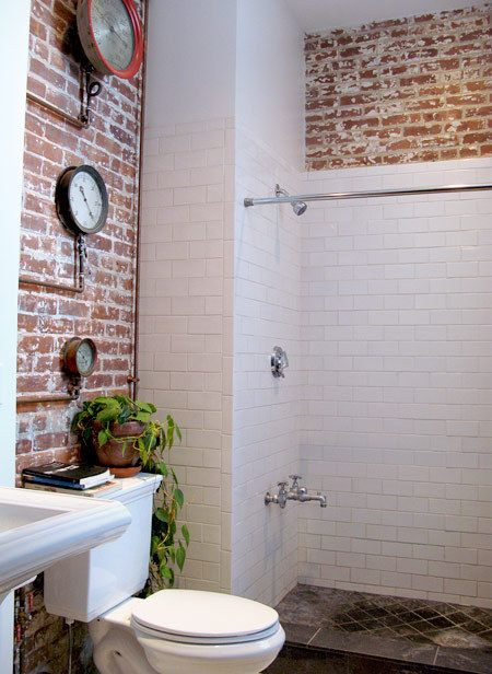 25 best ideas about Brick Bathroom on Pinterest  Fake brick Brick wallpaper and Soundproof