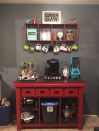 Kitchen Coffee Bar! | Jean Anne at Home red furniture redo ...