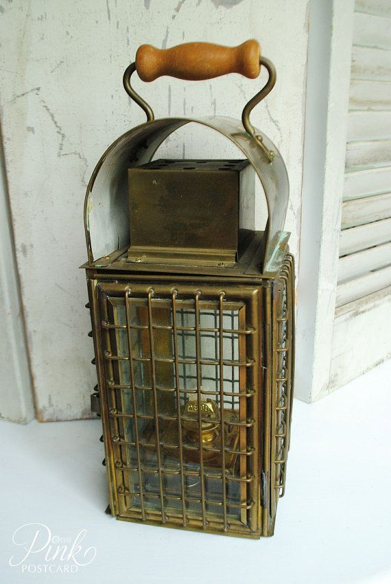 tiffany kitchen lighting drop leaf table and chairs vintage wedge nautical brass lantern | a&t pinterest ...