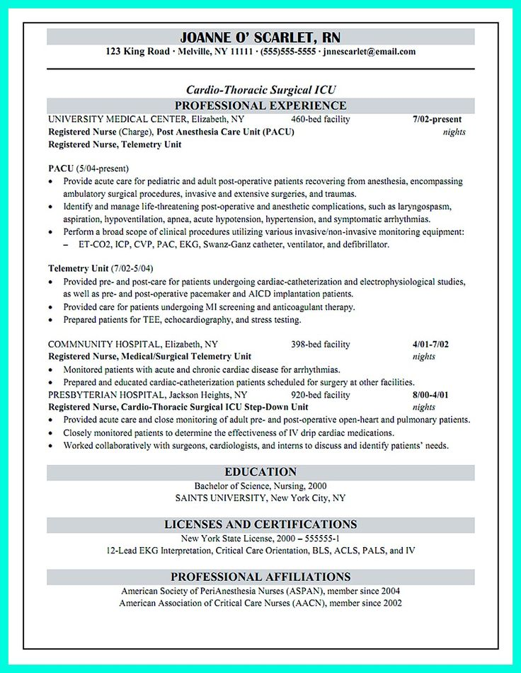 Critical Care Nurse Resume Has Skills Or Objectives That