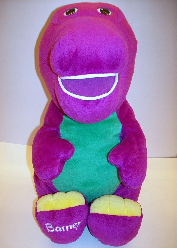 2001 Fisher Jumbo Talking Barney Plush Toy 94790 HUGE 24 Lyons Group PBS  Toys Fisher price