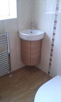 Corner Bathroom Sinks Furniture Modern White Porcelain ...