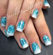 cute blue acrylic nails 10