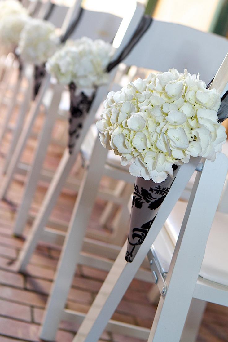 Hydrangea Pew Markers Wedding Pinterest Hydrangeas