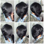layered bob sew in hair