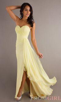 Pale yellow bridesmaid dress.   Weddings   Pinterest ...