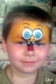 spongebob basic face painting clowning