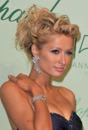 paris hilton romantic messy curly