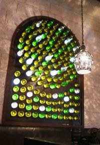 When I build my art studio, it will have a recycled bottle ...