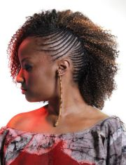 side cornrows braided hairstyle