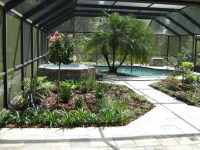 A lanai in Odessa, Florida, is divided into 3 outdoor ...