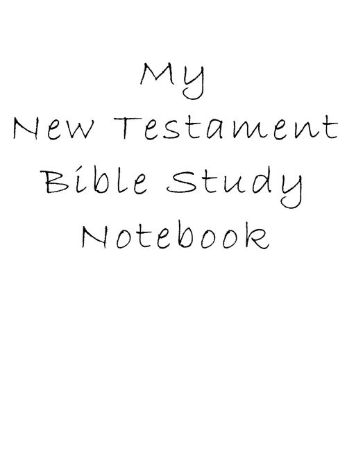 17 Best ideas about Bible Study Notebook on Pinterest