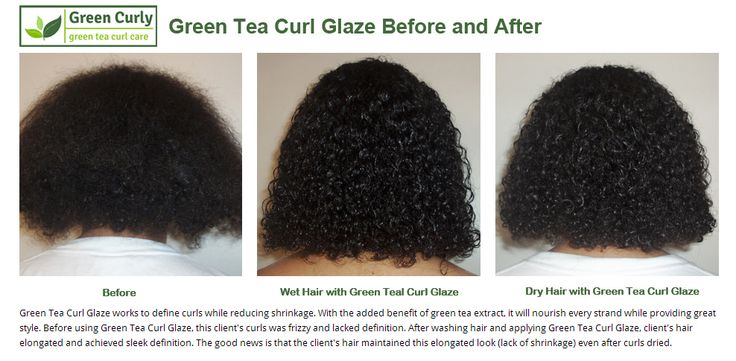 Green Tea Curl Glaze works to define curls while reducing