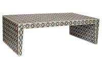 Bone Inlay Coffee Table, Charcoal   furniture files ...