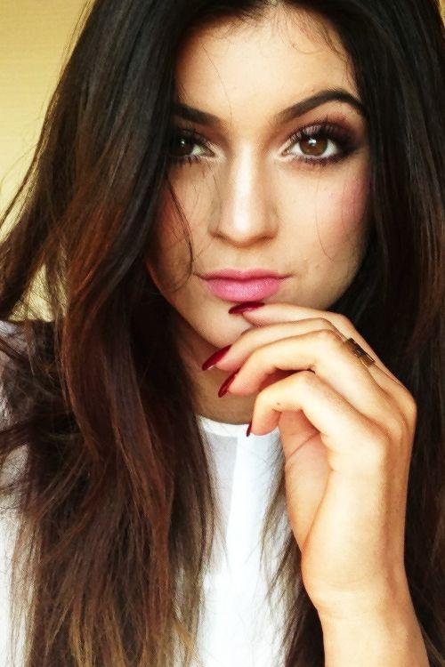 Kylie Jenner Ombr Redblack Hair Color Hair Long