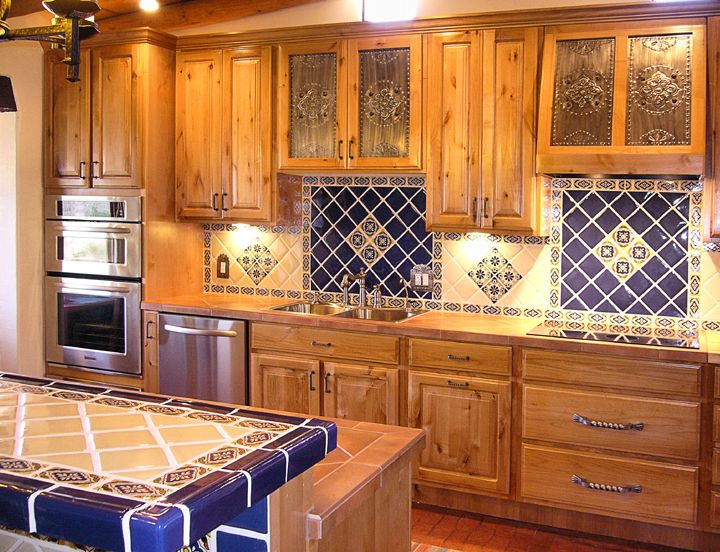 Kitchen project Want Mexican tiles on countertop and