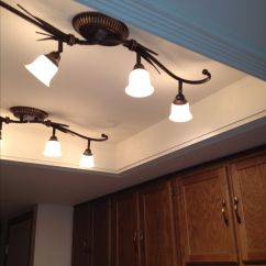 Track Lighting For Kitchens Replace Kitchen Cabinet Doors Convert That Ugly Recessed, Fluorescent Ceiling ...
